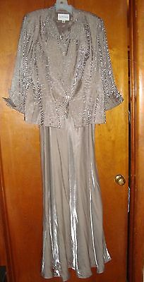 Womens Davids Bridal Mother of the Bride 2pc  Gown w Jacket Size 16W