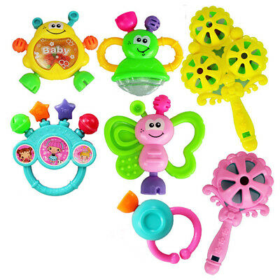 Free Shipping Newborn Baby Toys Rattle Baby suit Baby handbell