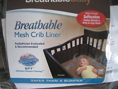 BREATHABLE BABY Breathable Mesh Crib Liner Bumper yellow BRAND NEW