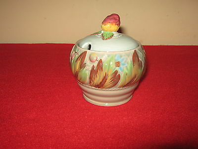 "Clarice Cliff Art Deco Hand Painted ""autumn Leaves"" Preserve Or Honey Pot."