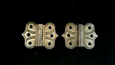 Vintage Antique Brass Butterfly Hinges