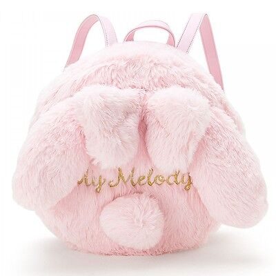Sanrio My melody With Ears Fake Fur Round Shape Ruck sack Backpack Japan New F/S