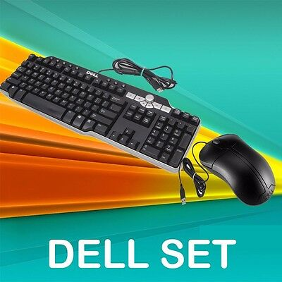 Dell PC /DESKTOP MULTIMEDIA USB WIRED  QWERTY UK LAYOUT KEYBOARD AND MOUSE SET