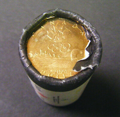 2004 Canada Olympic Lucky Loonie Roll (25 coins)  $1 coin One Dollar Canadian
