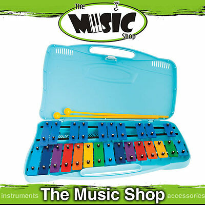 New Angel 25 Note Chromatic Glockenspiel with Plastic Case & Beaters - AX25K