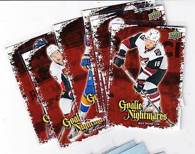 16-17 2016-17 Upper Deck Goalie Nightmares - Finish Your Set Low Shipping Rate