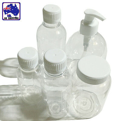 20pcs Transparent Plastic Bottle Liquid Soap Fluid 100 150 200 250 500ml HVPA369