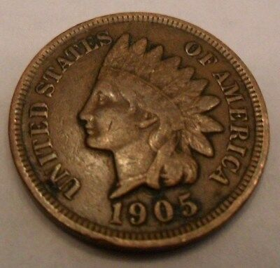1905 Indian Head Cent / Penny  **FREE SHIPPING**