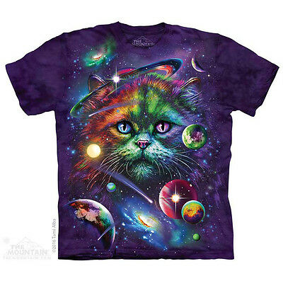 Cosmic Cat T-Shirt by The Mountain.  Pets Cat Kitten Space Sizes S-5X NEW
