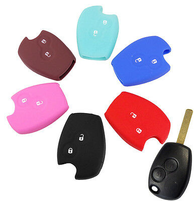 Silicone Key Cover For Renault Duster Clio Dacia Remote Fob Case Shell 2 Button