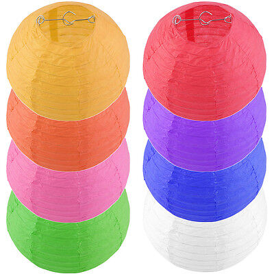 8 Round Traditional Chinese Hanging Paper Lanterns for Wedding Party Event CL