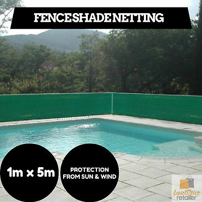 Multipurpose Fence Shade Netting Shade Cloth 1m x 5m Net Heavy Duty Sun Wind New