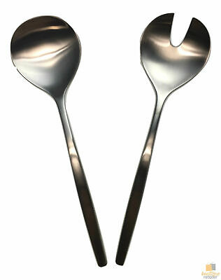 GROSVENOR Chill 2 Salad Servers 18/10 Stainless Steel Spoon Fork CHILL2SS New