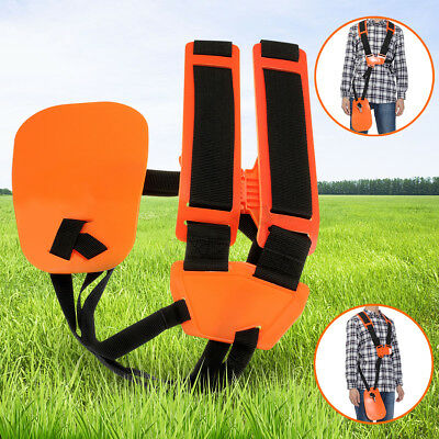 Strimmer Double Shoulder Harness Strap For Brush Cutter &Trimmer + Carry Hook UK