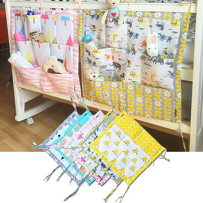 Pure Cotton Cot Bed Hanging Dirty Clothes Storage Bag Organizer 60 * 50cm
