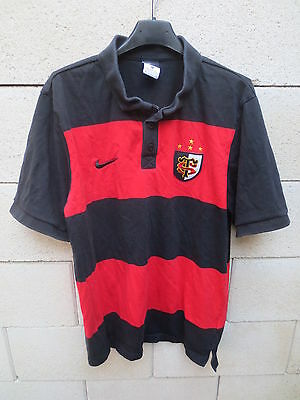 Polo rugby STADE TOULOUSAIN Toulouse NIKE shirt manches courtes XL coton  jersey