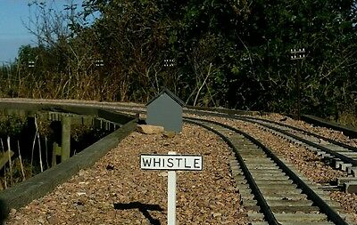 SM 32 G scale whistle sign set of 4 (Garden railway)