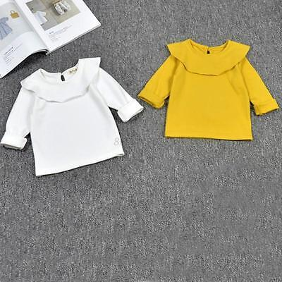 Baby Kids Girl Autumn Clothes Long Sleeve Cotton Bottom T-Shirt Blouse Tops 1-5Y