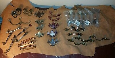 Huge Lot of mixed 38 piece Antique/New Drawer Pulls
