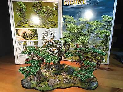 Painted Citadel wood for miniature scenery