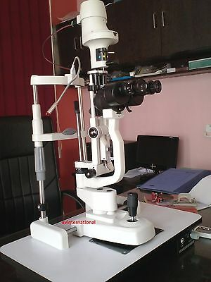 K-77 Slit Lamp Haag Streit Type 2 Step With aluminium base white color