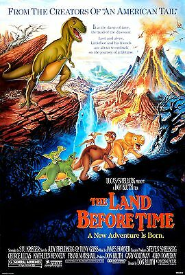 The Land Before Time Laminated Mini Movie Poster A4 Print Spielberg