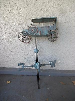 "One Of A Kind Model ""t"" Car Antique Copper Weathervane"