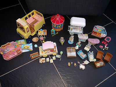 Sylvanian Families Nursery School Bus Ice Cream Gift Toy Shop Hook A Duck More