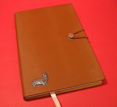 Corgi A5 Tan Note Book Dog Journal Vet Father Mothers Useful Gift