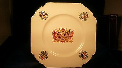Collector Plate commemorating 1937 coronation of King George VI by Wedgewood