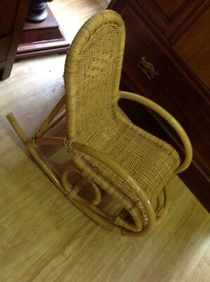 Child's Small Cane Rocking Chair