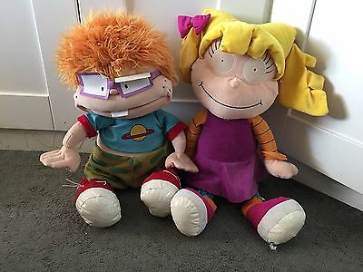 Nickelodeon 2 RARE RUGRATS PLUSH FIGURES VINTAGE ANGELICA & CHUCKIE FINSTER 24""