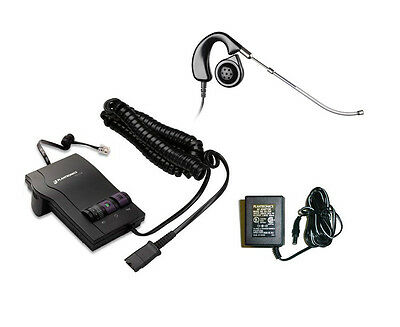 Plantronics Combo M12 Amplifier + H41 Voice Tube Headset + AC Adapter