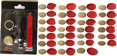 Wax Stamp Seal Stamping Kit ALPHABET Initials Monogram Letters A-Z crafts invite