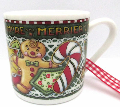 Mary Engelbreit Ink More The Merrier Christmas Cookie Mini Mug Ornament
