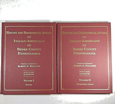 History And Biographical Annals Of Italian-Americans Of Berks Co. PA 2 Vol. Set