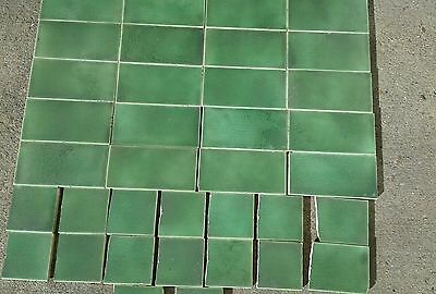 Vintage Antique Victorian  Fireplace Tiles National dated 1907