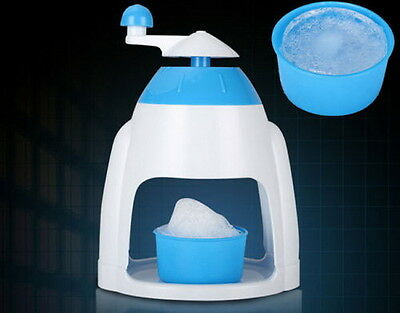 Summer Ice Candy Crusher Shaver Snow Cone Maker Manual Machine Home Kitchen TY