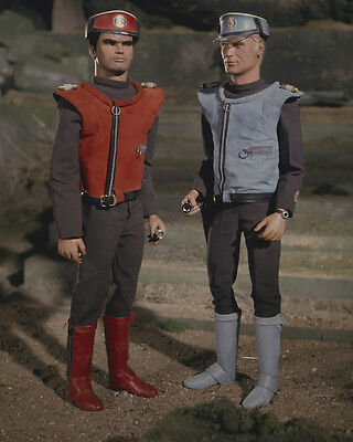 Captain Scarlet and the Mysterons with Captain Blue Gerry Anderson 8x10 Photo