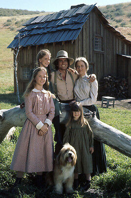 Little House on the Prairie season one cast pose by house 24x36 Poster