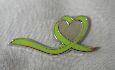 *NEW* Mental Health 'loved one' Awareness enamel green ribbon badge.Depression.