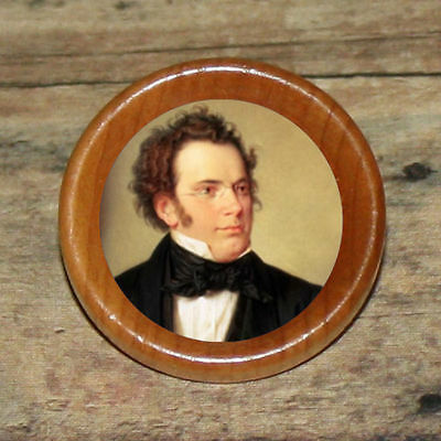 FRANZ SCHUBERT Altered Art Tie Tack or Ring or Brooch pin