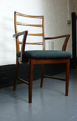 A Good Pair of Vintage 1970s Hall Armchairs Carvers Freshly Upholstered