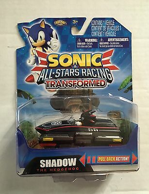 Sonic The Hedgehog All Star Racing Transformed Shadow Vehicle Pull Back RacerNew