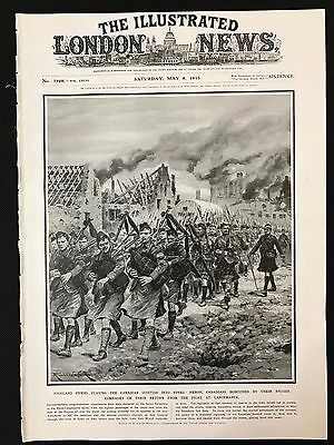 1915 Original Newspaper Front Page, Return of the Canadian Scottish, WW1