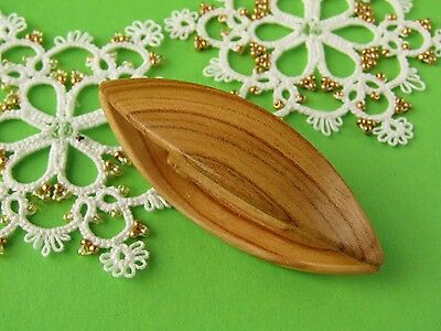 Wooden 6.7 cm Tatting Shuttle Handmade of apricot Wood