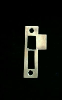 Brass Antique Vtg Mortise Lock Striker Strike Plate Keeper Part  3 3/4