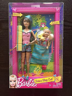 Barbie Sisters Sleep Out! Skipper And Chelsea W/ Clothes & Accessories NIB