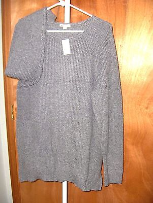 Women Size Large Maternity * Gap * Sweater,  Crew Pullover Heather Gray Nwt