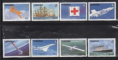 Gambia 739-46 Aviation Mint NH